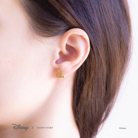 Short Story: Disney Earring Cinderella Jaq and Gus - Gold
