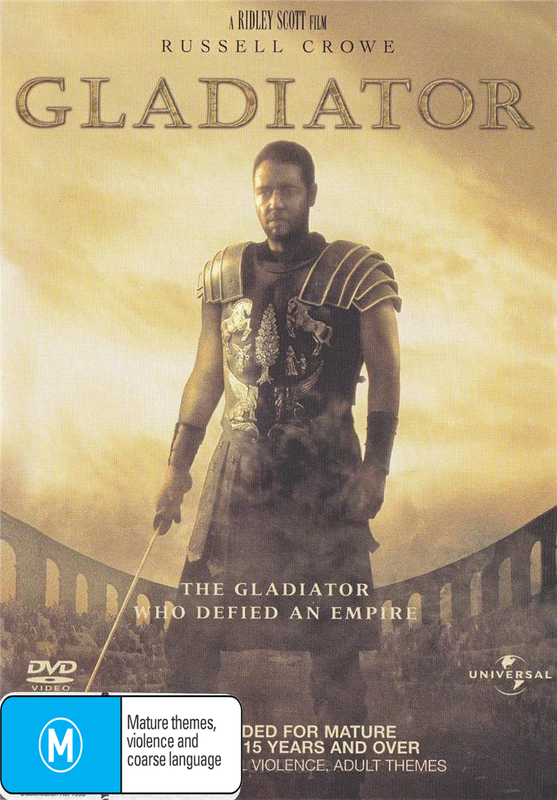 Gladiator (Russell Crowe) on DVD