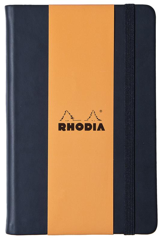 Rhodia Webnotebook A5 Leatherette with Elastic Closure (Black)