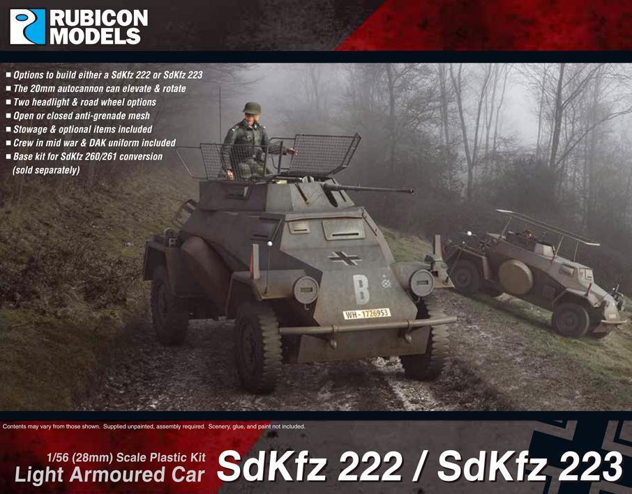 Rubicon 1/56 SdKfz 222/223 Light Armoured Car image