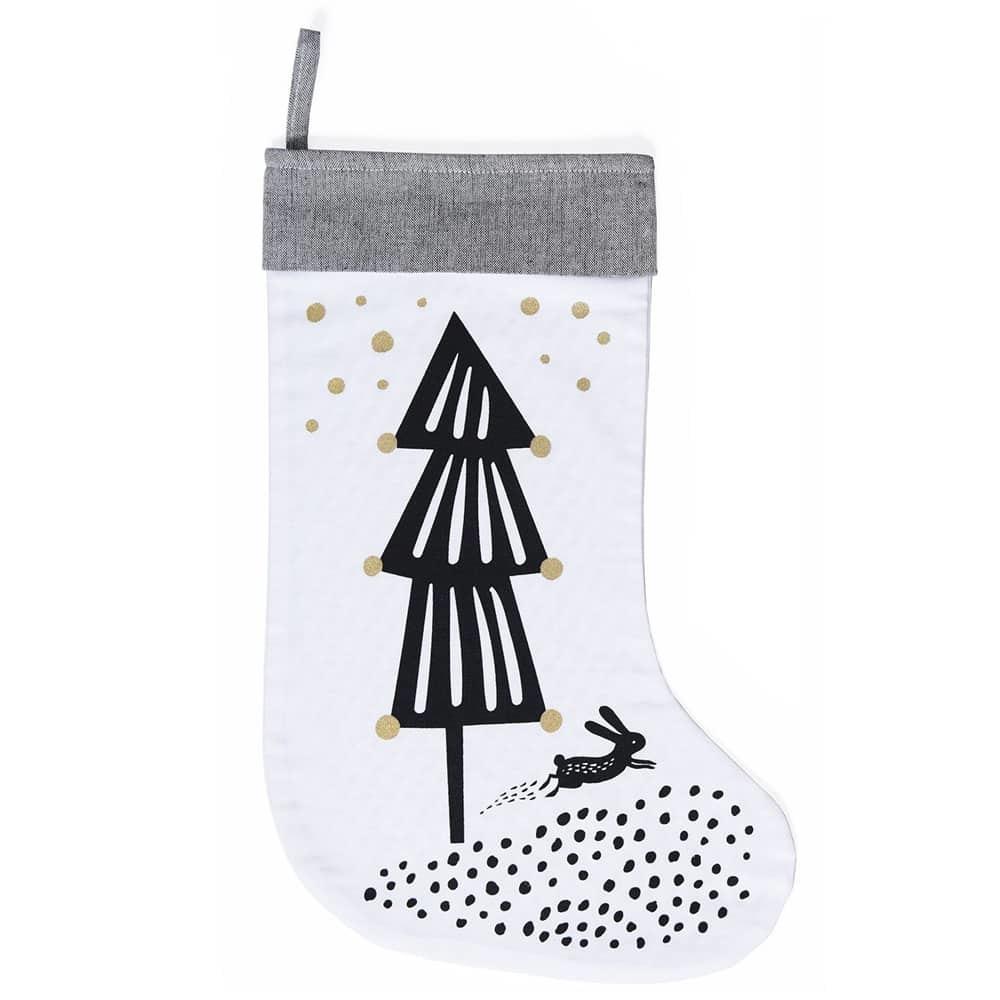 Wee Gallery: Organic Holiday Stocking - Christmas Tree image