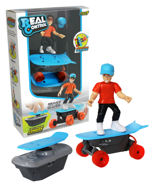 Real Control: Skateboarding RC Toy - Red