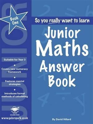 Junior Maths: Book 1 by David Hilliard