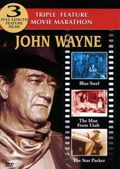 John Wayne Triple Feature (Blue Steel, The Man From Utah, The Star Packer) on DVD