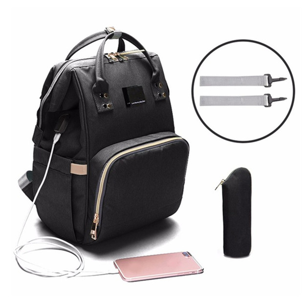 Ape Basics: Casual Daypack with USB Charging Port for Women Men