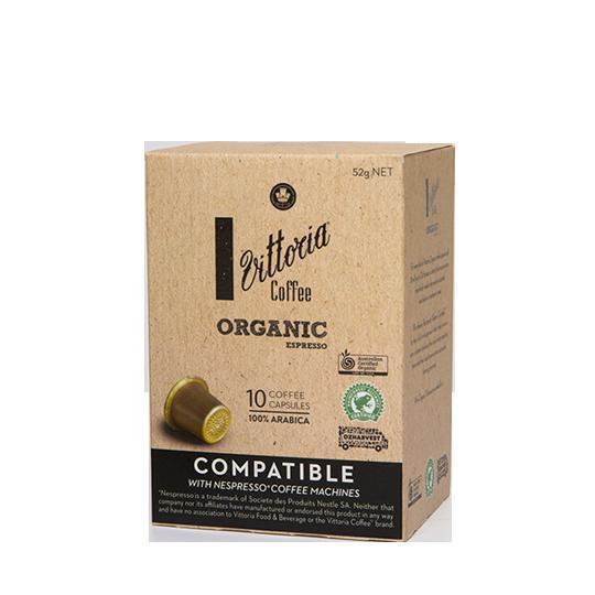 Vittoria Organic Espresso Coffee Capsules