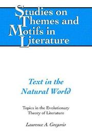 Text in the Natural World by Laurence A Gregorio image