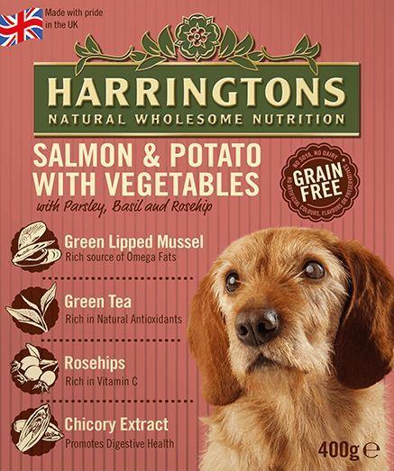 Harringtons Wet Dog Food Salmon Potato 400g At