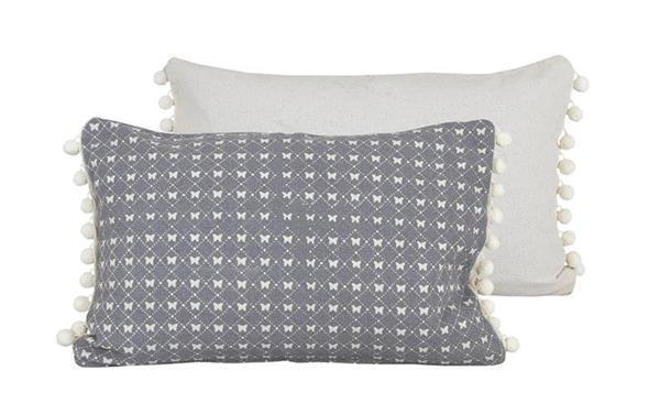 Raine & Humble Cushion Butterfly Lace - Cygnet Grey (30X60cm)