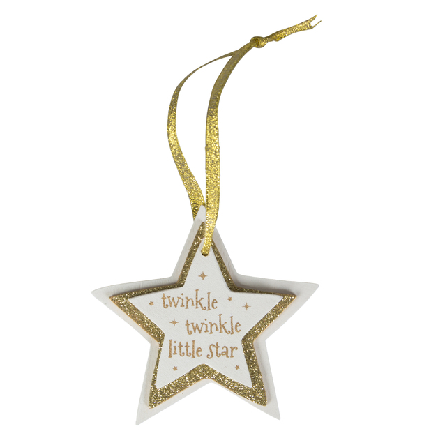 Gold Twinkle Twinkle Little Star Hanging Decoration