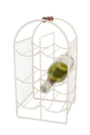 T&G Wire Wine Rack - Cream