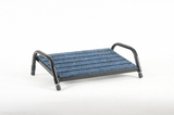 Footrest Blue Carpet with Black Frame - Small