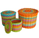 Woven Storage Baskets (With Lids)