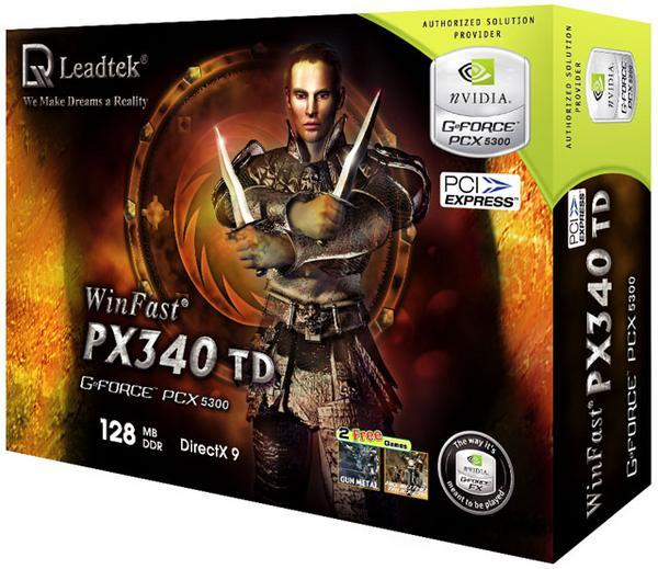Leadtek Graphics Card WinFast PX340 TD 128M PX5300 PCIE