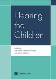 Hearing the Children by Rt Hon Lord Justice Thorpe image