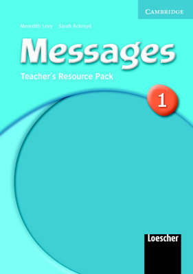 Messages 1 Teacher's Resource Pack Italian Version by Meredith Levy