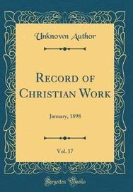 Record of Christian Work, Vol. 17 by Unknown Author image