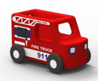 Moover: Fire Truck - Wooden Mini Car