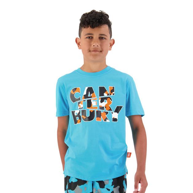 Canterbury: Boys Camo Logo Tee - Scuba Blue (Size 16)