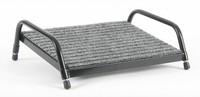Footrest Grey Carpet with Black Frame - Large