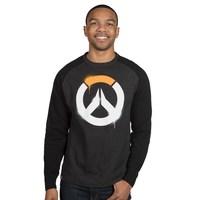Overwatch Stencil Logo Raglan Pullover Sweatshirt (L)