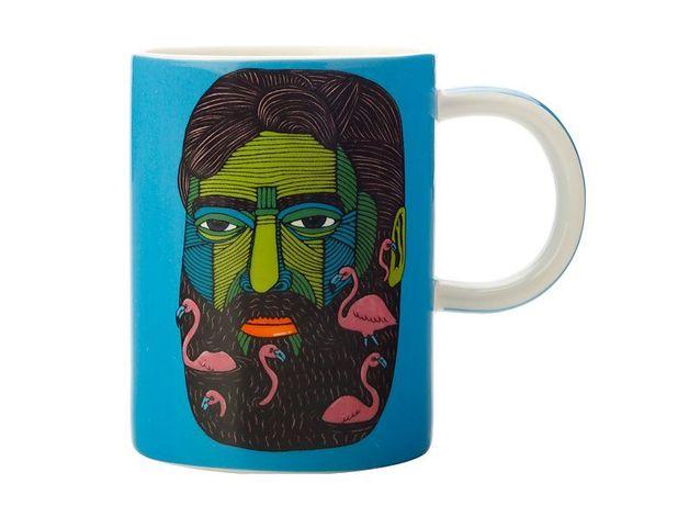 Maxwell & Williams: Mulga the Artist Mug Flamingo Man (450ml)
