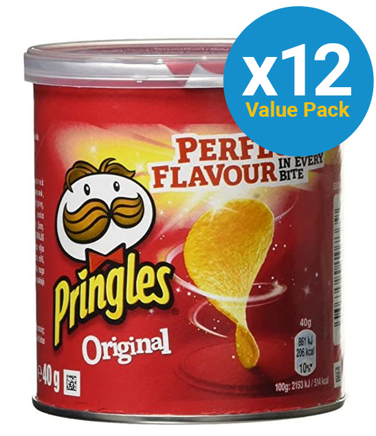 Pringles Grab & Go Small Original 40g (12 Pack)