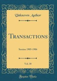 Transactions, Vol. 38 by Unknown Author image
