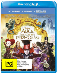 Alice Through the Looking Glass on Blu-ray, 3D Blu-ray image