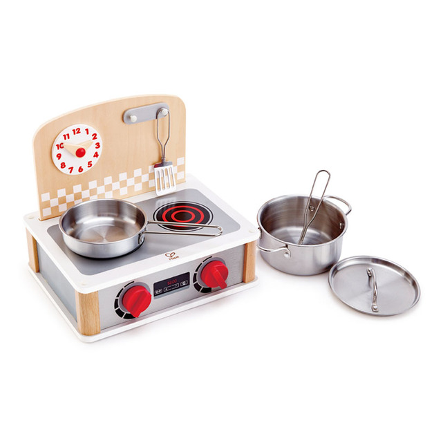 Hape: 2-In-1 Kitchen & Grill Set