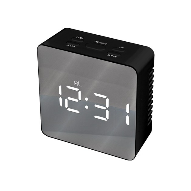 Mayhem Mirror Clock Grey