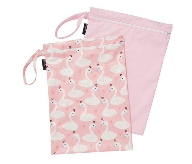 Mum 2 Mum: Wet Bag - Swans / Pink (2 Pack)