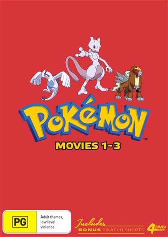 Pokémon Movies 1-3 (Collector's Edition) on DVD