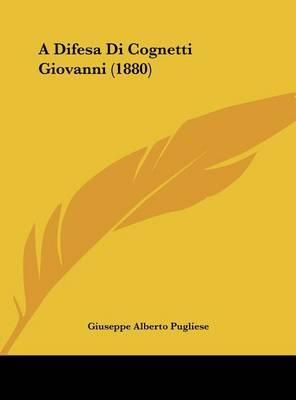 A Difesa Di Cognetti Giovanni (1880) by Giuseppe Alberto Pugliese image