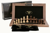 Dal Rossi Walnut Chess Set (40cm)