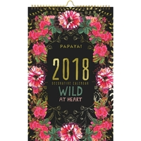 Papaya Wild at Heart 2018 Wall Calendar