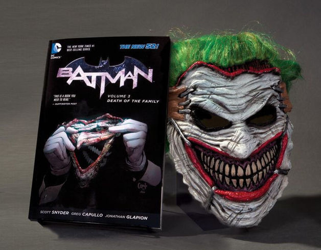 Batman: Death of the Family Joker Mask and Book Set (New 52) by Scott Snyder