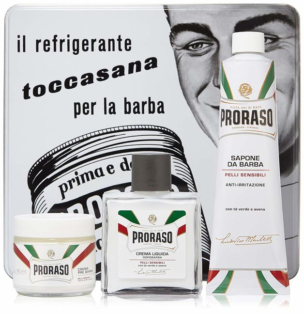 Proraso: 3 Piece Vintage Gift Box White - Sensitive Skin