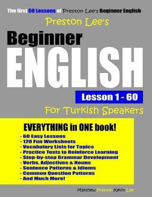 Preston Lee's Beginner English Lesson 1 - 60 For Turkish Speakers by Matthew Preston image