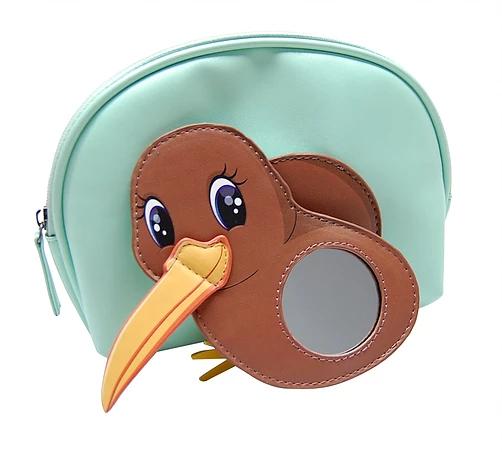 Moana Road Kiwi Toilet Bag with Wing Mirror (Mint)
