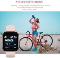 Smart Watch Fitness Tracker with Heart Rate Monitor - Rose Gold