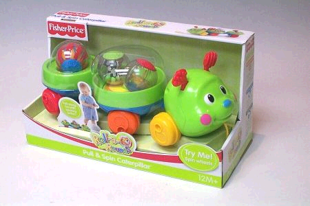 Fisher Price Roll a Rounds Pull and Spin Caterpillar image