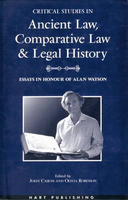 Critical Studies in Ancient Law, Comparative Law and Legal History image