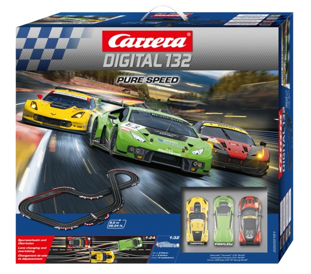 Carrera: Digital 132 - Pure Speed Slot Car Set - With 3 Cars (Lamborghini/Corvette/Ferrari)