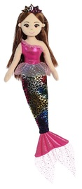Sea Sparkles: Jungle Mermaid - Fushia Cheetah (45cm)