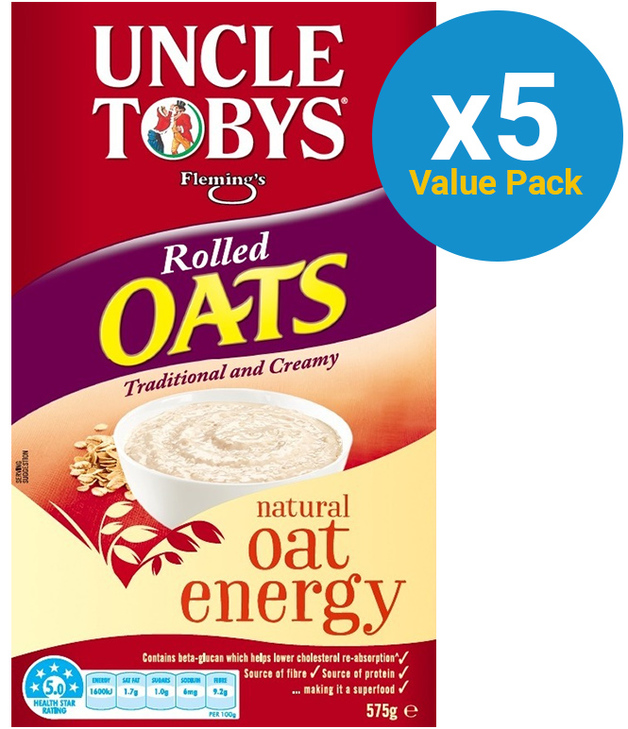 Uncle Tobys Rolled Oats 575g 9pk