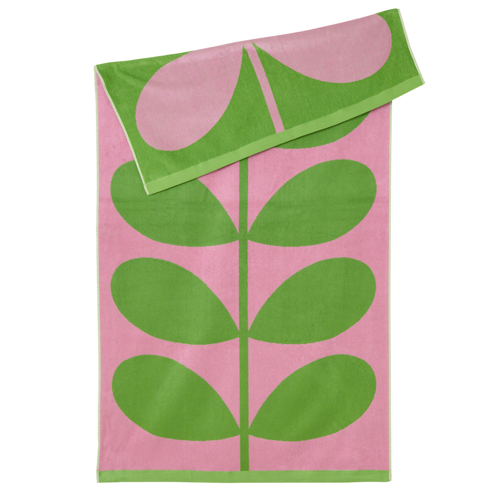 Orla Kiely Luxury Beach Towel - Lilac Pink Stem image
