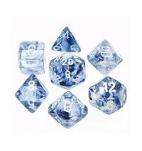 Chessex Signature Polyhedral Dice Set Nebula Black/White