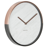 Karlsson Wall Clock - 'Marble Delight' (Copper/White)
