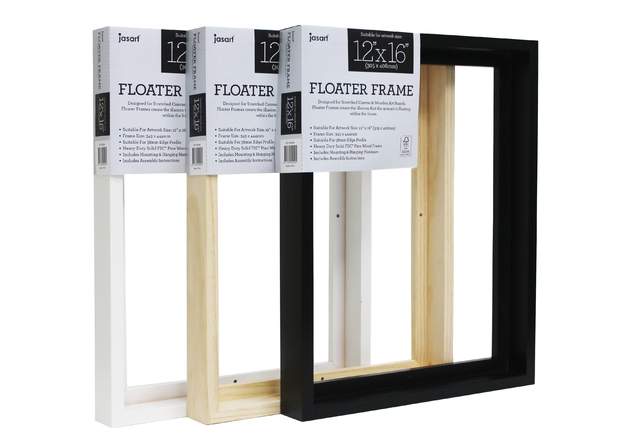 Jasart: Floater Frame - Natural (Thick Edge/12x16inch)